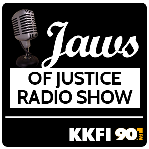 logo for Jaws of Justice Radio show
