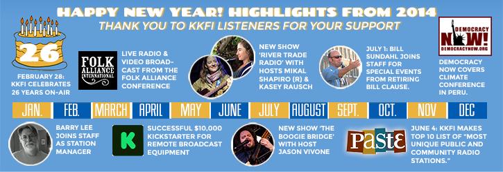 KKFI Timeline 2014